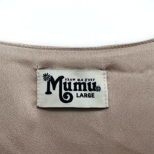 Show Me Your MuMu Dresses - Show Me Your Mumu Champagne Gold Dress - Size L